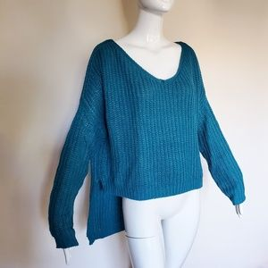 Uniq Teal Oversized Sweater